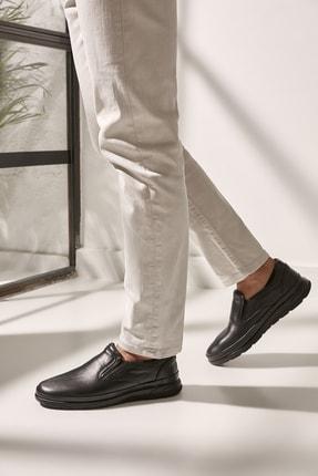 Yaya  by Hotiç Hakiki Deri Sıyah Erkek Loafer Ayakkabı 02AYY602600A100
