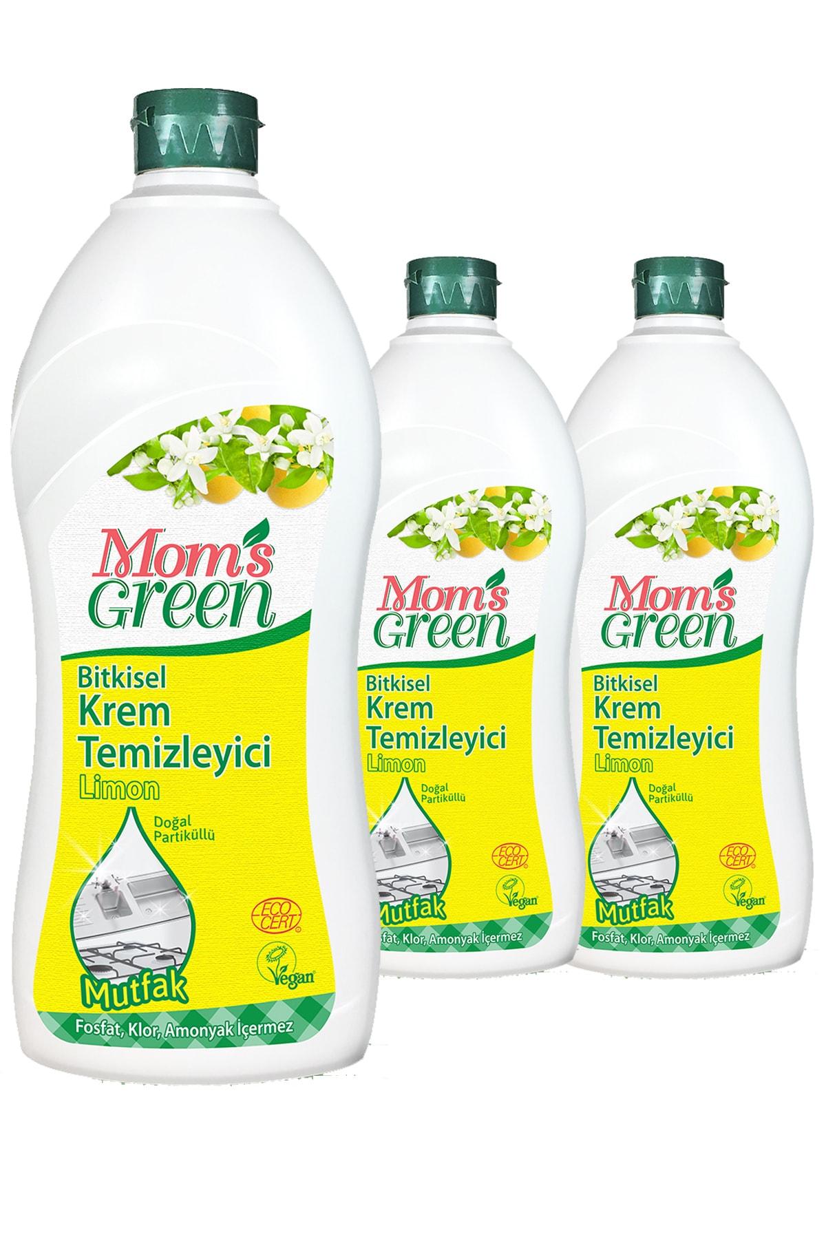 Mom's Green 3'lü Set Bitkisel Krem Temizleyici Mutfak - Limon 1