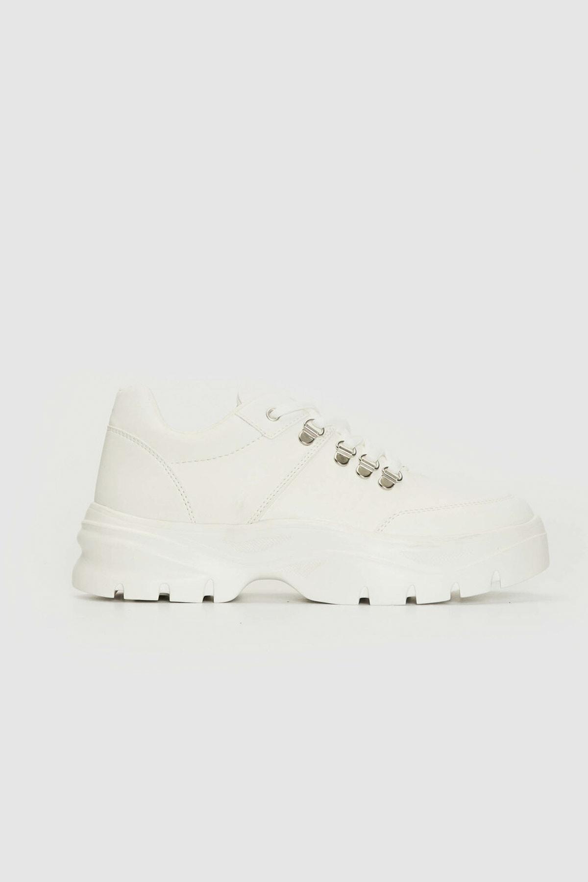 LC Waikiki Kadın Beyaz J5E Sneaker 0WEJ54Z8 1