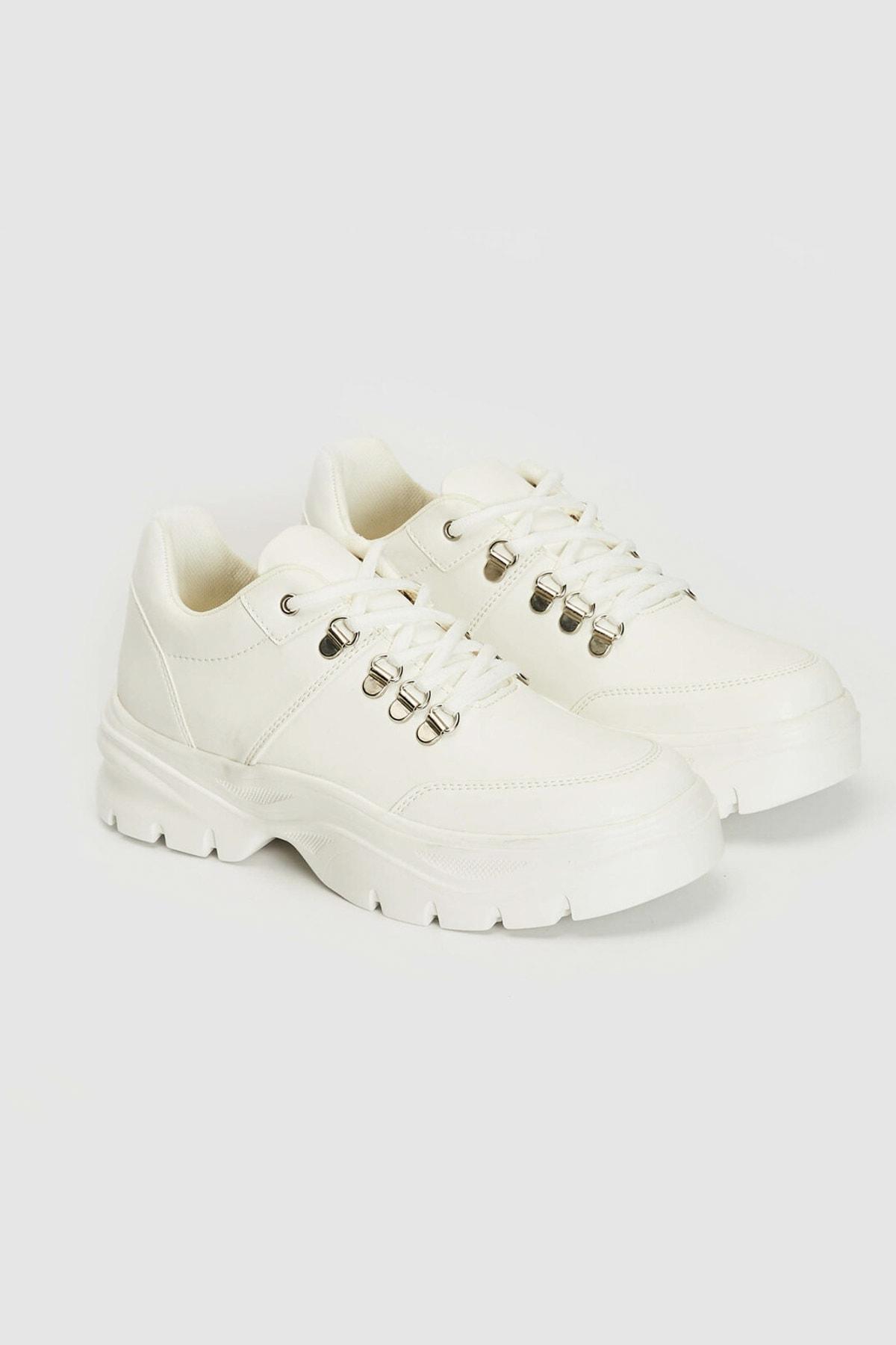LC Waikiki Kadın Beyaz J5E Sneaker 0WEJ54Z8 2
