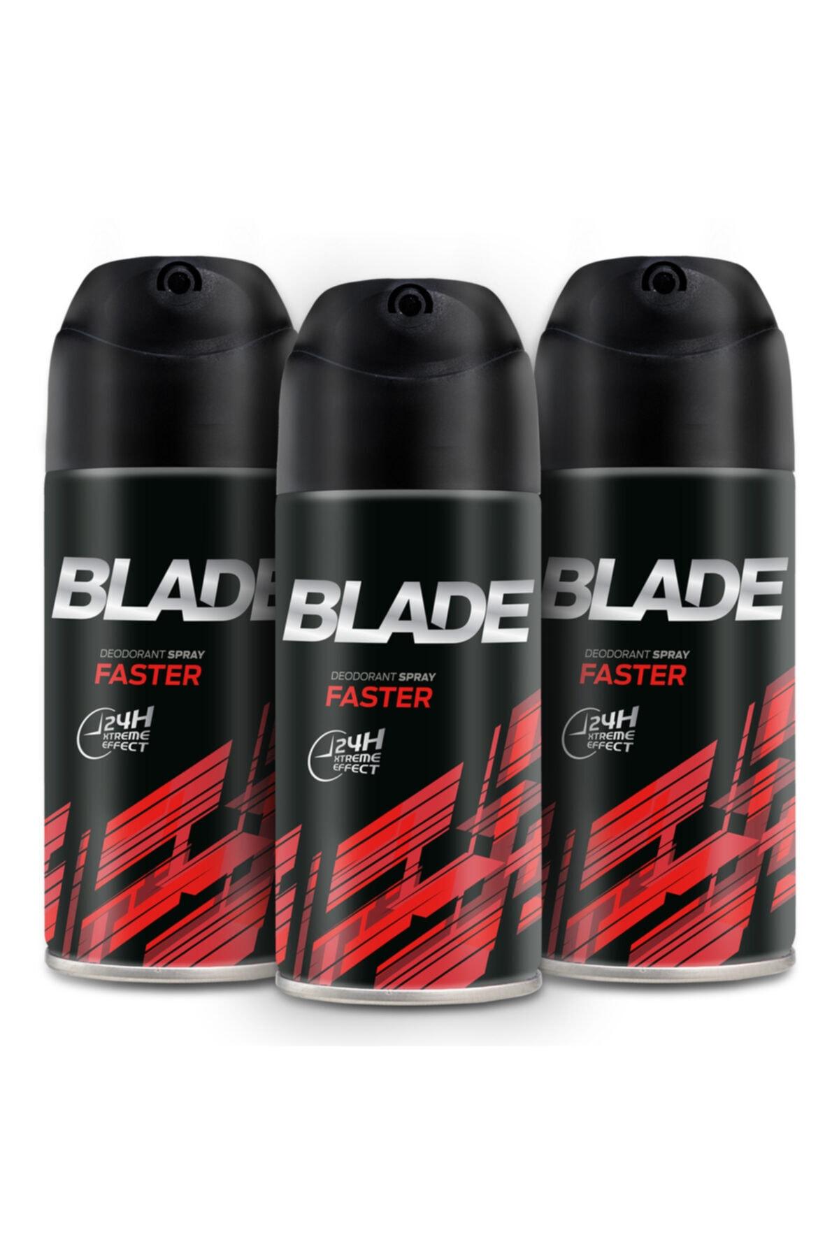 Blade Faster Erkek Deodorant 3x150ml 1