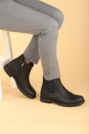 Ayakland Erkek Siyah Termo Taban Içi Kürklü Fermuarlı Bot Ayakkabı 650