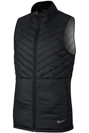 Nike Aerolayer Thermal Erkek siyah Yelek Full Zip Cj5478 010