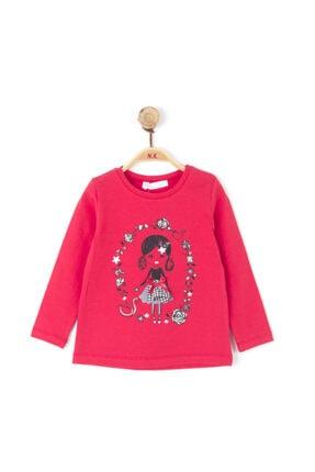 NK Kız Çocuk Kırmızı Kareli Etekli Baskılı Pamuklu Bluz
