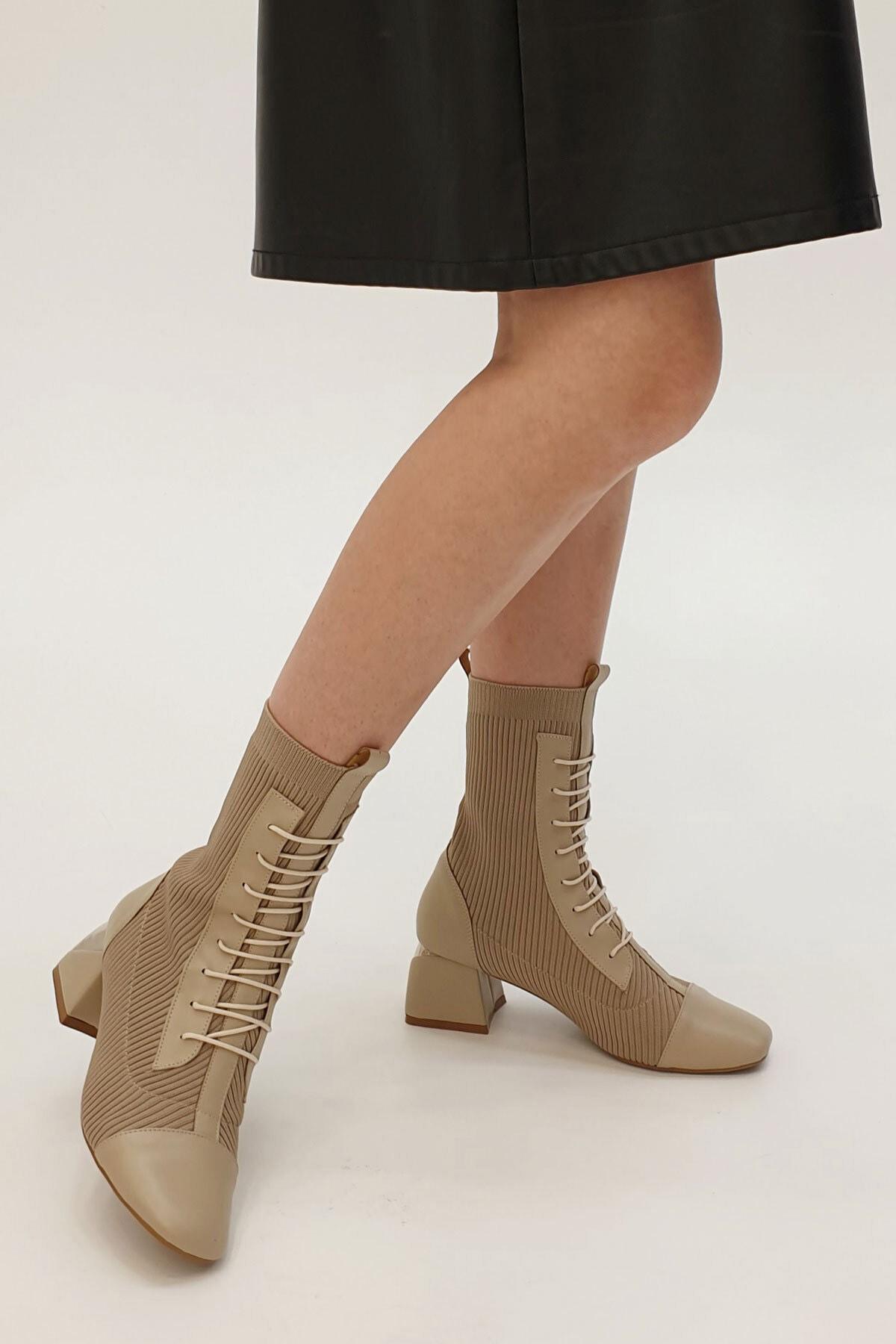 Marjin Larin Kadın Çorap Topuklu Botvizon 2