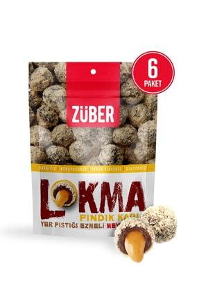 Züber Lokma Fındık Kaplı Fıstık Ezmeli Meyve Topu 96g X 6 Paket