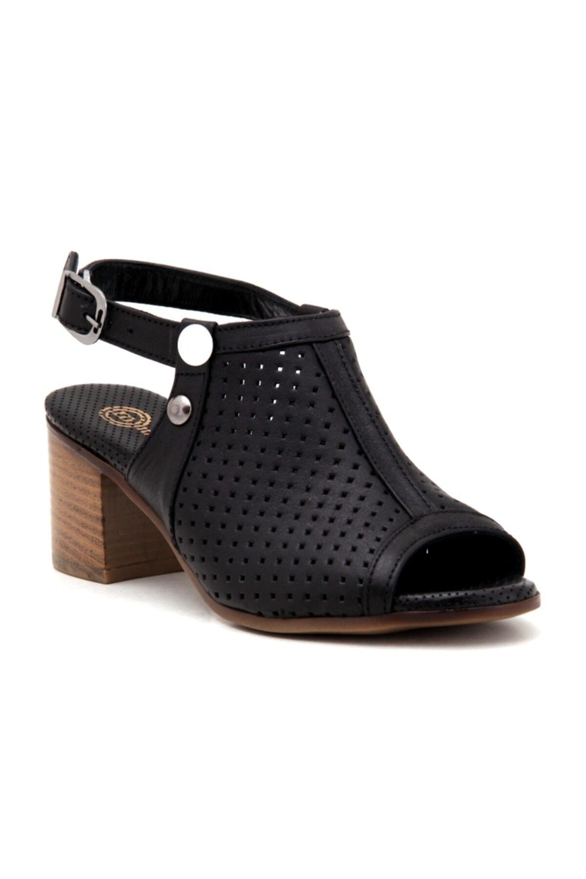 Mammamia Kadın Siyah  Günlük Sandalet 1
