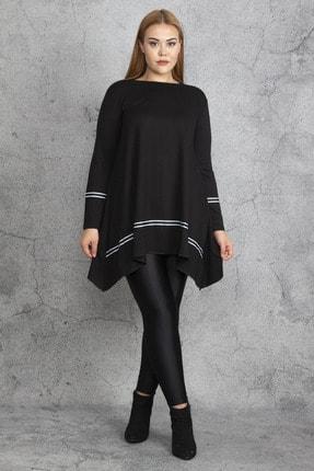 Şans Kadın Siyah Ribana Detaylı Tunik 65N18830
