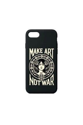 SUMTHINCS Make Art Not War Premium Siyah Iphone 7/8/se 2020 Telefon Kılıfı