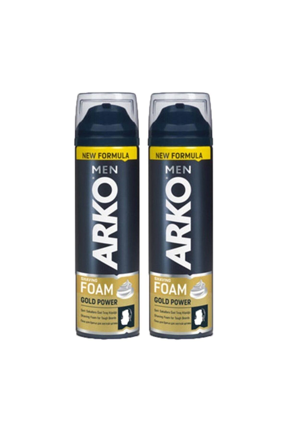 ARKO Men Tıraş Köpüğü Gold 200 Ml 2 Li Ekonomik Paket 1