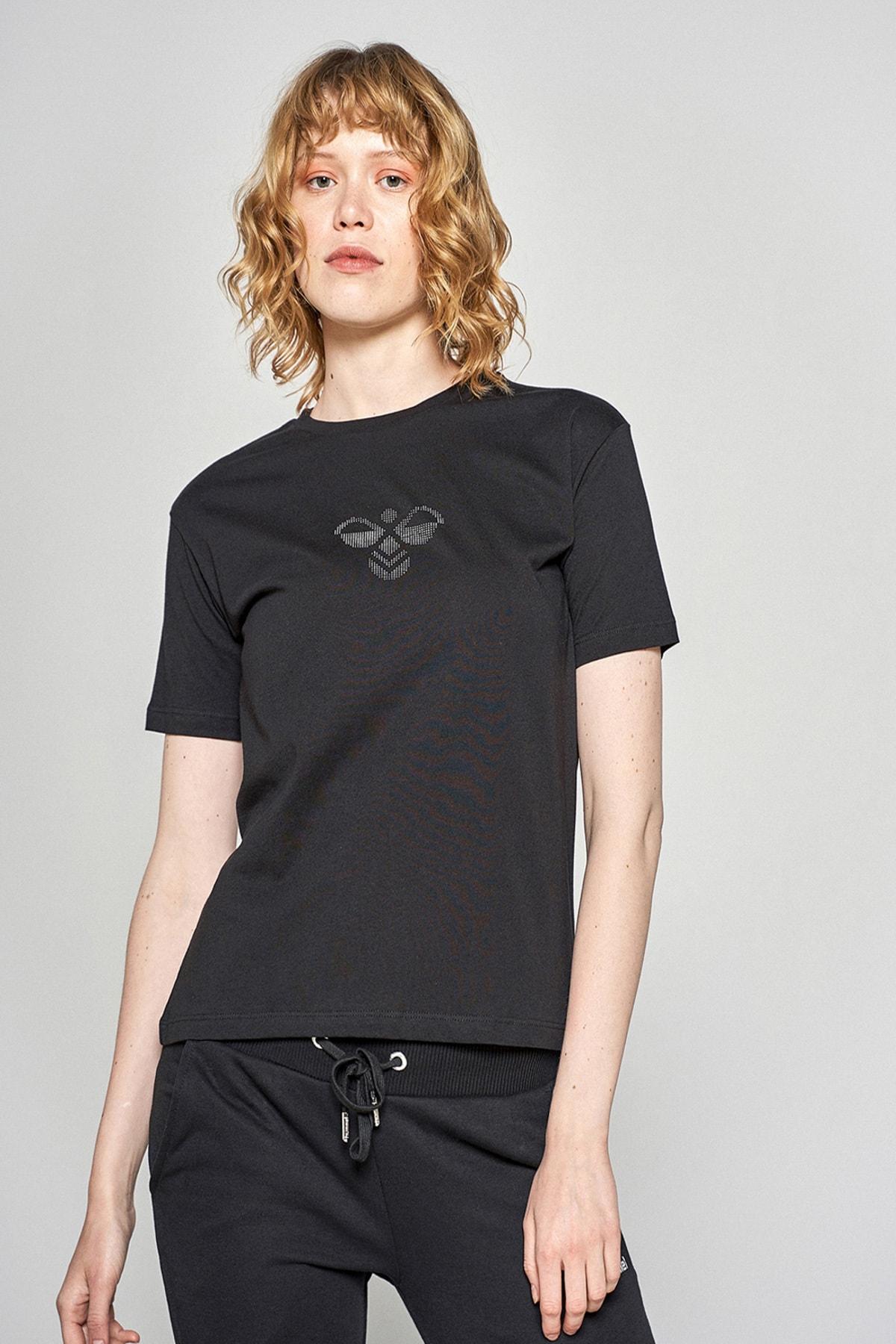 HUMMEL Kadın Siyah Jasmine T-shirt 911192-2001 1