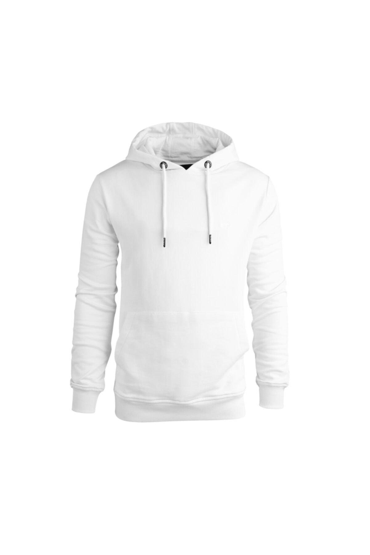 Bad Bear Erkek Beyaz Hoodie Badge Sweatshirt 200212050-wht 1