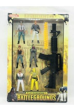 BVM Oyuncak Pubg 6 Lı Figür Boncuk Atan Silah Oyuncak Set
