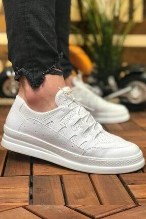 Chekich Erkek Beyaz Bağcıklı Sneaker