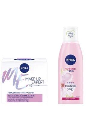 Nivea Make Up Pürüzsüz Nemlendirici Makyaj Bazı 50 ml ve Kuru Hassas Cilt İçin Yatıştırıcı Tonik 200 ml