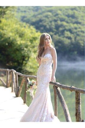 AS Brides Briella Kadın Beyaz Dantelli Gelinlik
