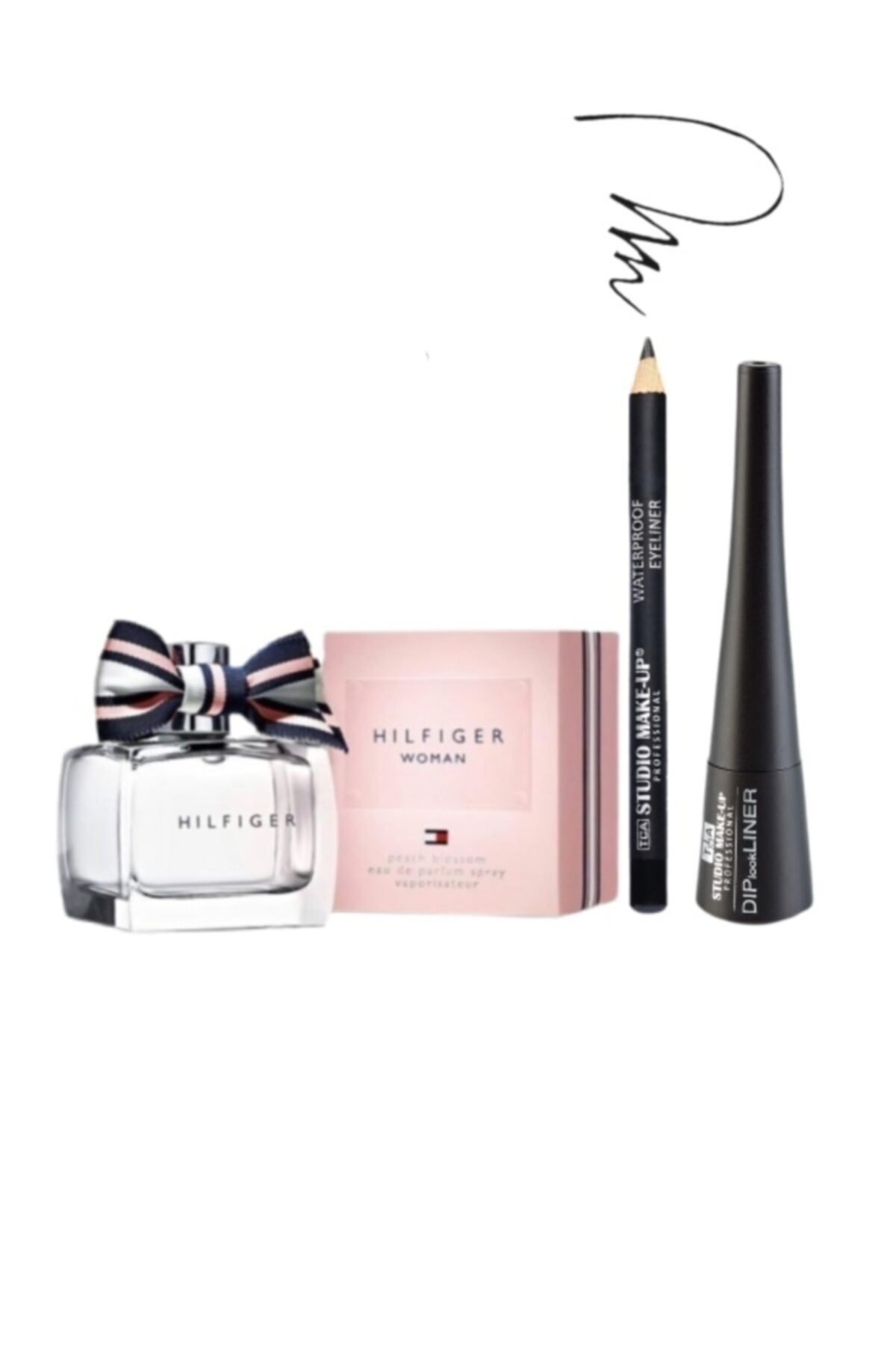 Tommy Hilfiger Peach Blossom 30 Ml Edp Kadın Parfümü + 2'li Makyaj Seti 1