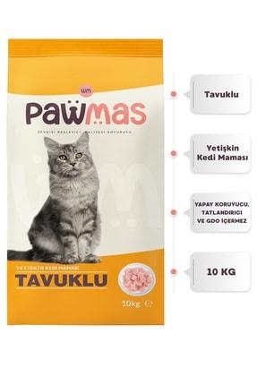 Pawmas Tavuklu Yetişkin Kedi Maması 10 Kg