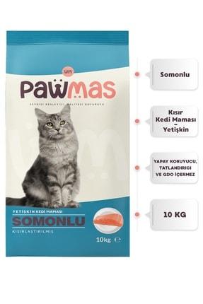 Pawmas Somonlu Kısırlaştırılmış Yetişkin Kedi Maması 10 Kg