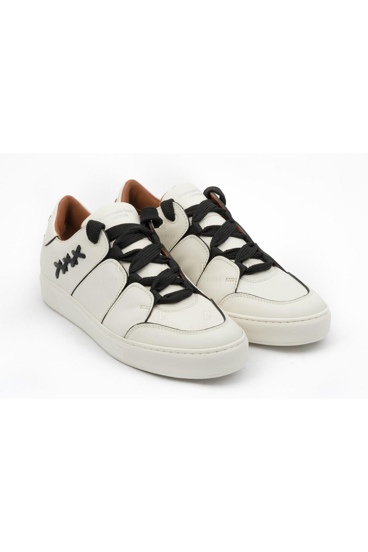Ermenegildo Zegna Erkek Beyaz Sneakers 1