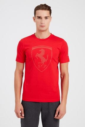 Puma Erkek Spor T-Shirt - Ferrari Style Big ShieldTee+ - 59793502