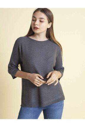 Fashion Friends Kadın Antrasit Bluz