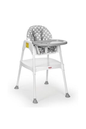 Moje Mama Sandalyesi Kılıflı Gri