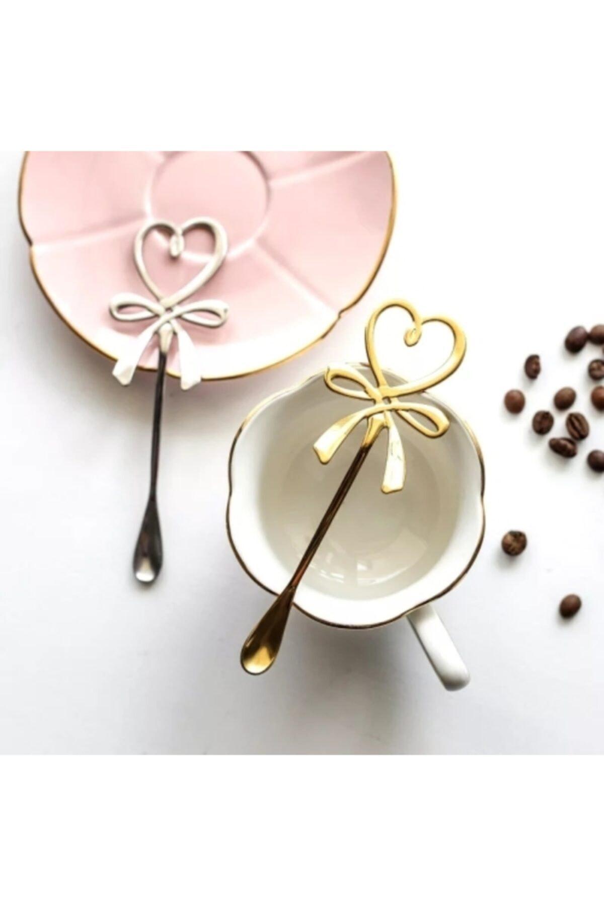 LOVYCO Parlak Gold Kalp Çay Kaşığı 1 Adet 2