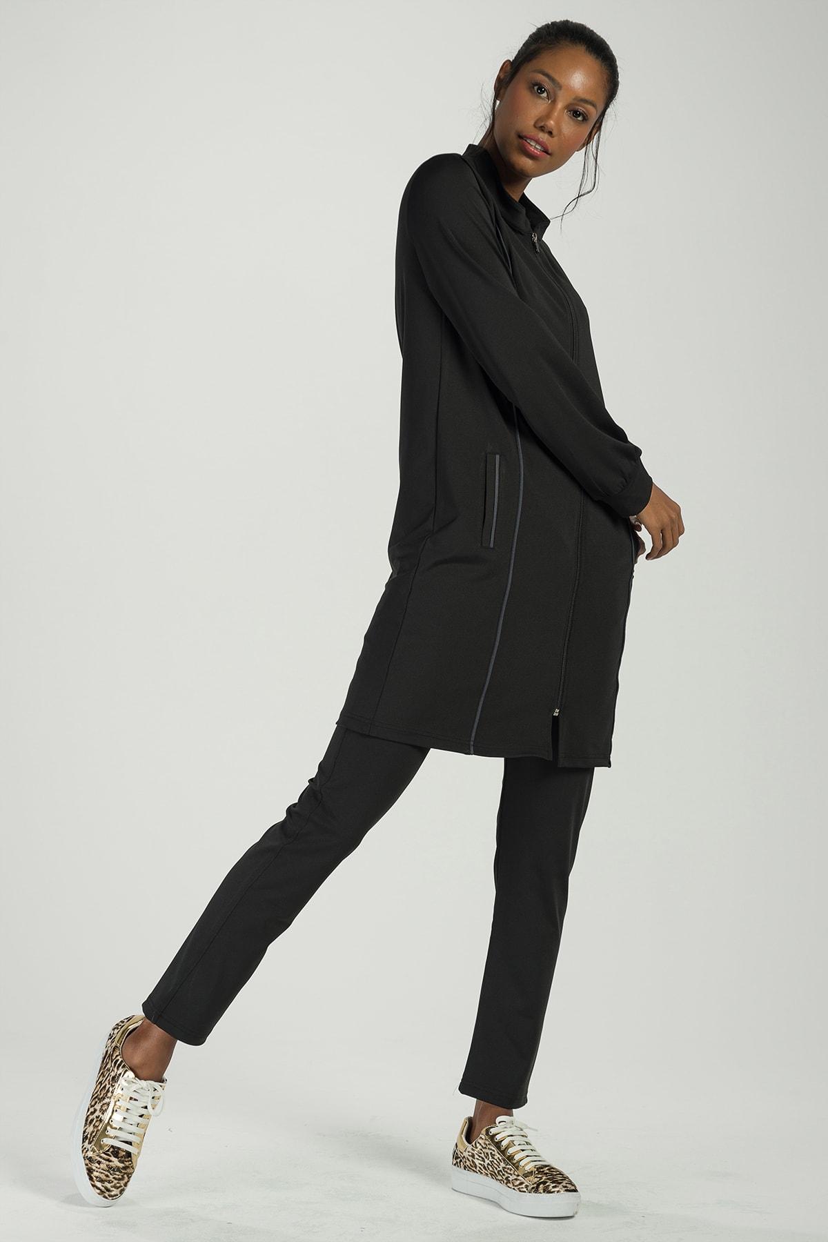 Runever Kadın Siyah Antrasit Tunik Takım 2