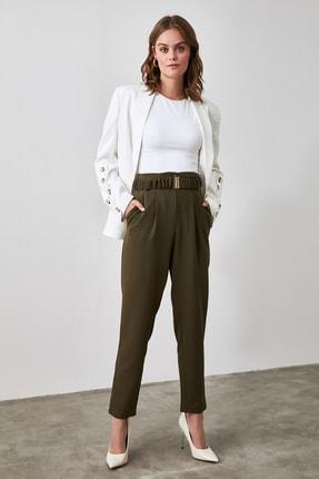 TRENDYOLMİLLA Haki Kemerli Pantolon TWOAW21PL0322