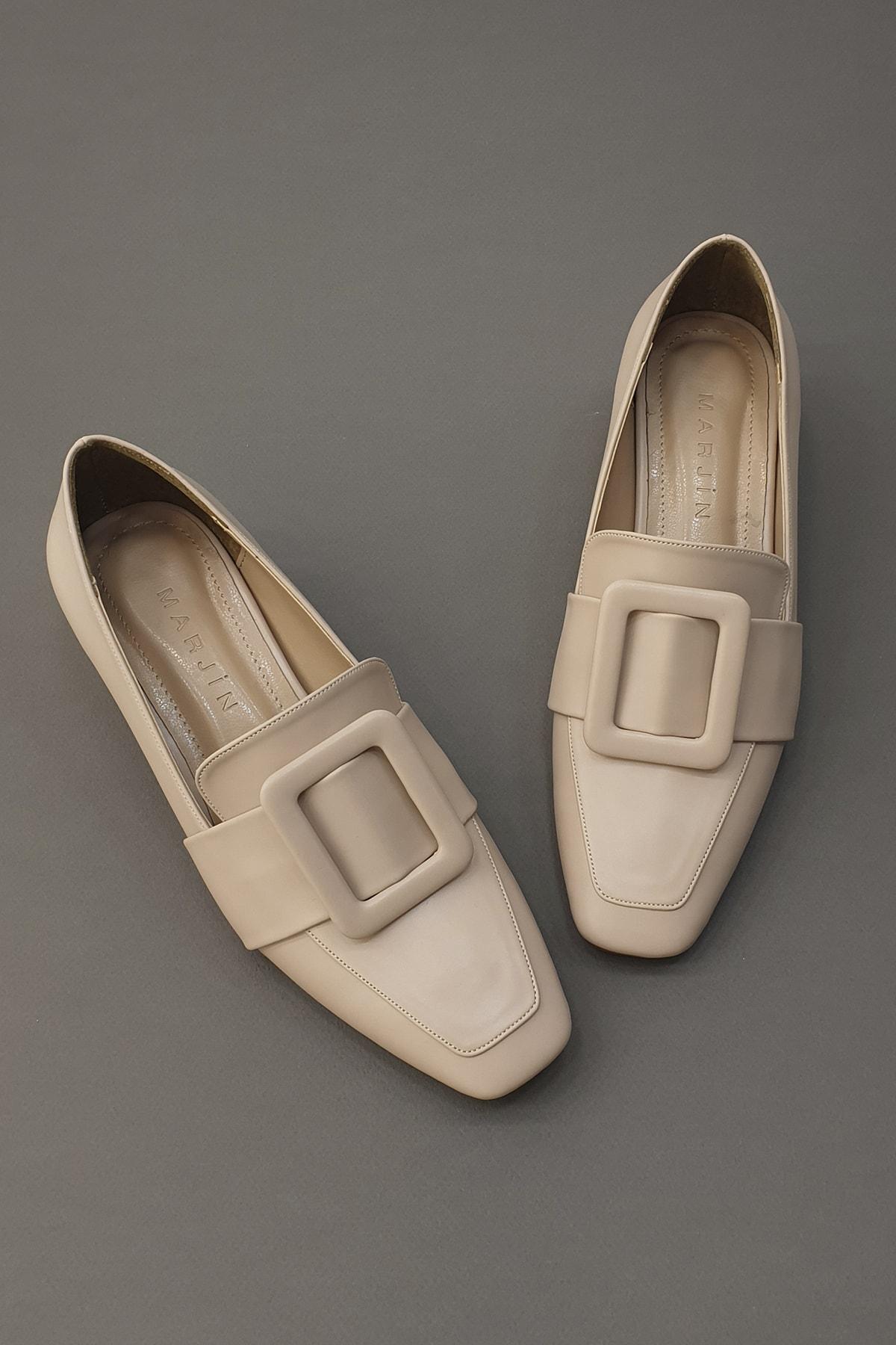 Marjin Kadın Bej Jiyona Topuklu Ayakkabı 1