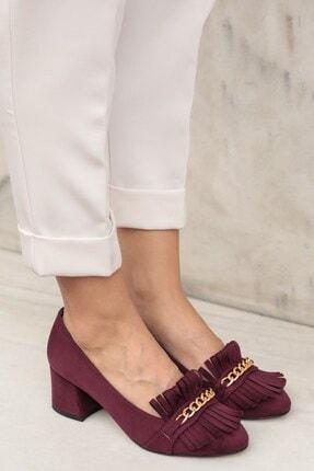 Mio Gusto Bordo Kadın Topuklu Ayakkabı 01052WRS