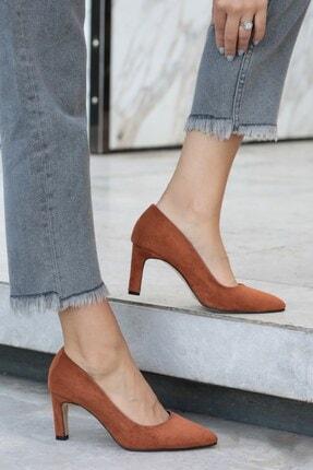 Mio Gusto Lita Taba Süet Topuklu Ayakkabı
