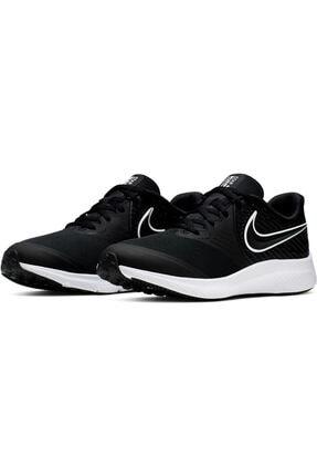 Nike Kadın Siyah Bağcıklı Yürüyüş Ayakkabısı