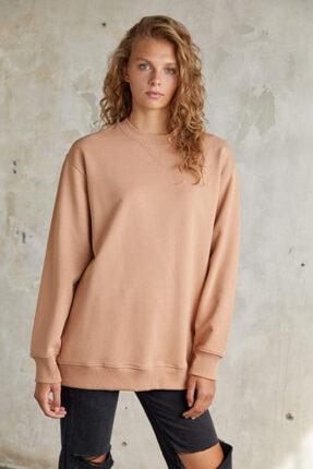 Urban Muse Kadın Camel Sweatshirt