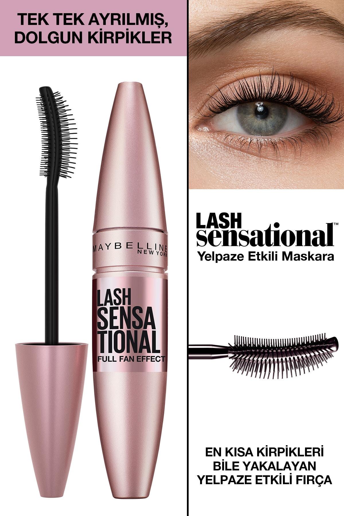 Maybelline New York Kıvrım & Hacim Etkili Siyah Maskara - Lash Sensational Mascara 3600531143459 1