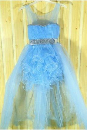 Daisy Kız Çocuk Mavi Kuyruklu Abiye