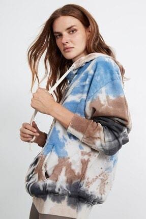 GRIMELANGE SOPHIA Kadın 3 Renkli Kapüşonlu Oversize Sweatshirt