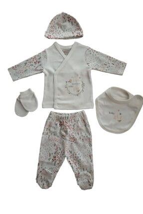 Ciccim Baby Yeni Doğan Pembe Desenli Zıbın Seti 5'li