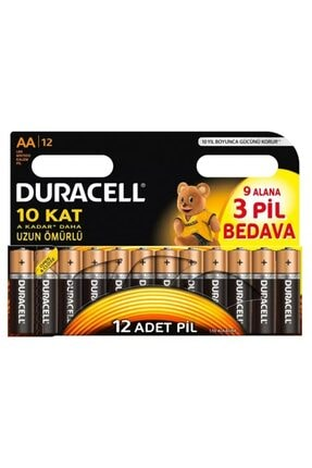 Duracell Alkalin Aa Kalın Kalem Pil 12 Li
