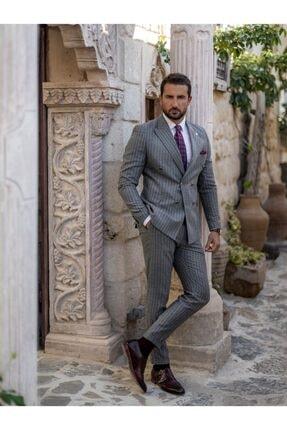 Mcr Erkek Gri Slim Fit Takım Elbise