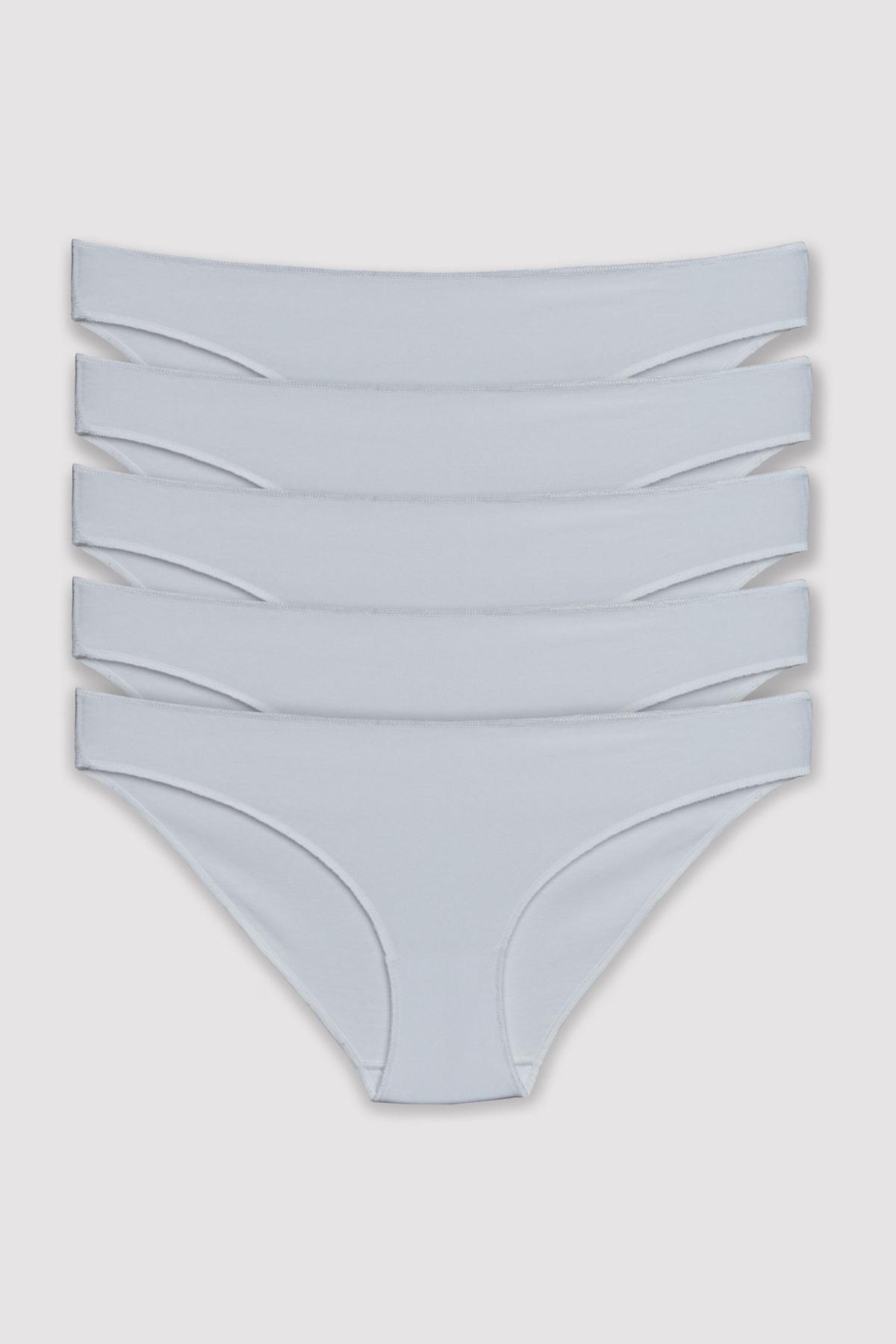 Pierre Cardin Kadın Beyaz 5'li Bikini Külot 1.2.2050