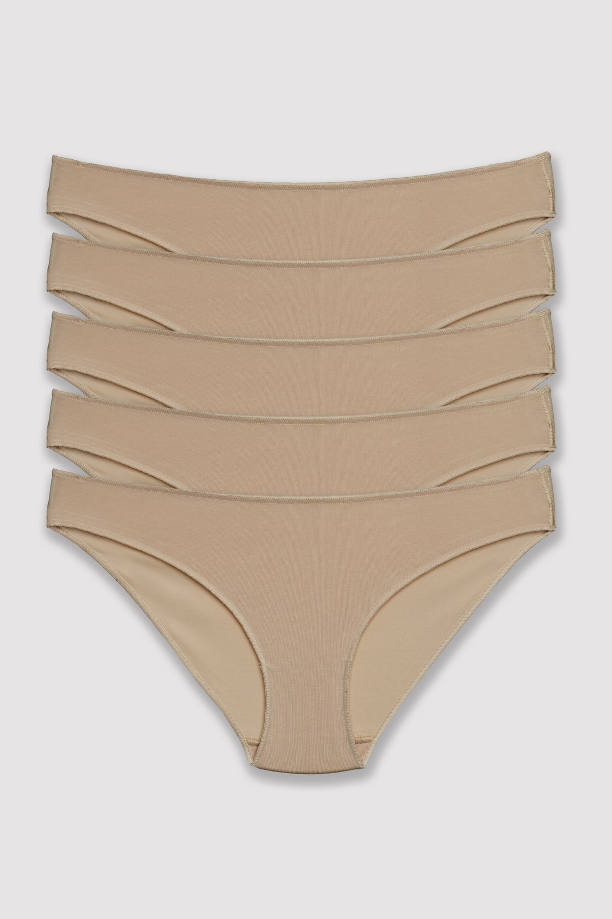 Pierre Cardin Kadın Ten 2050 Noshow Bikini 5li Paket Külot