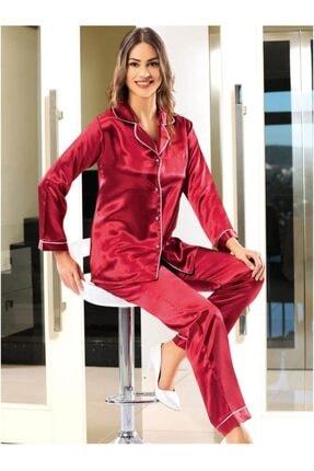 Emay Nilay Düz Saten Kadın Pijama 2045