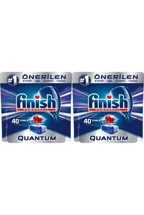 Finish Quantum Bulaşık Makinesi Deterjanı 40 Tablet 2 Adet