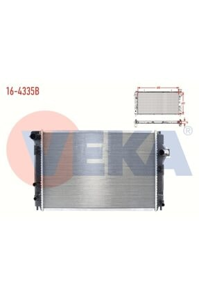 VEKAM Su Radyatoru Brazing (5mm Fin) Toyota Yaris (p13) 1.5ı A-t Ac+- 2011-