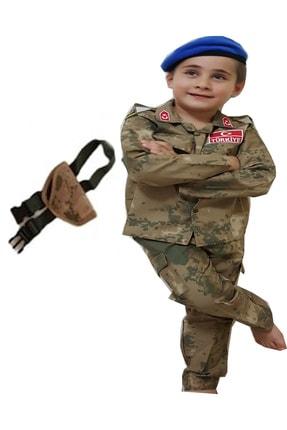 DEHAMODA 5 Parça Jöh Gömlekli Takım Çocuk Asker Kostümü Kıyafeti