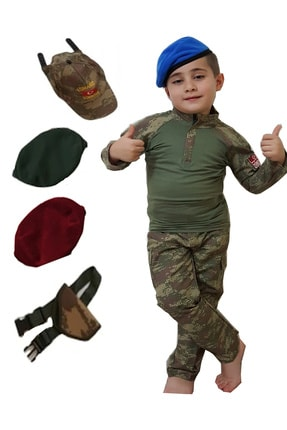 DEHAMODA Erkek Çocuk 8 Parça Asker Komando Kıyafeti