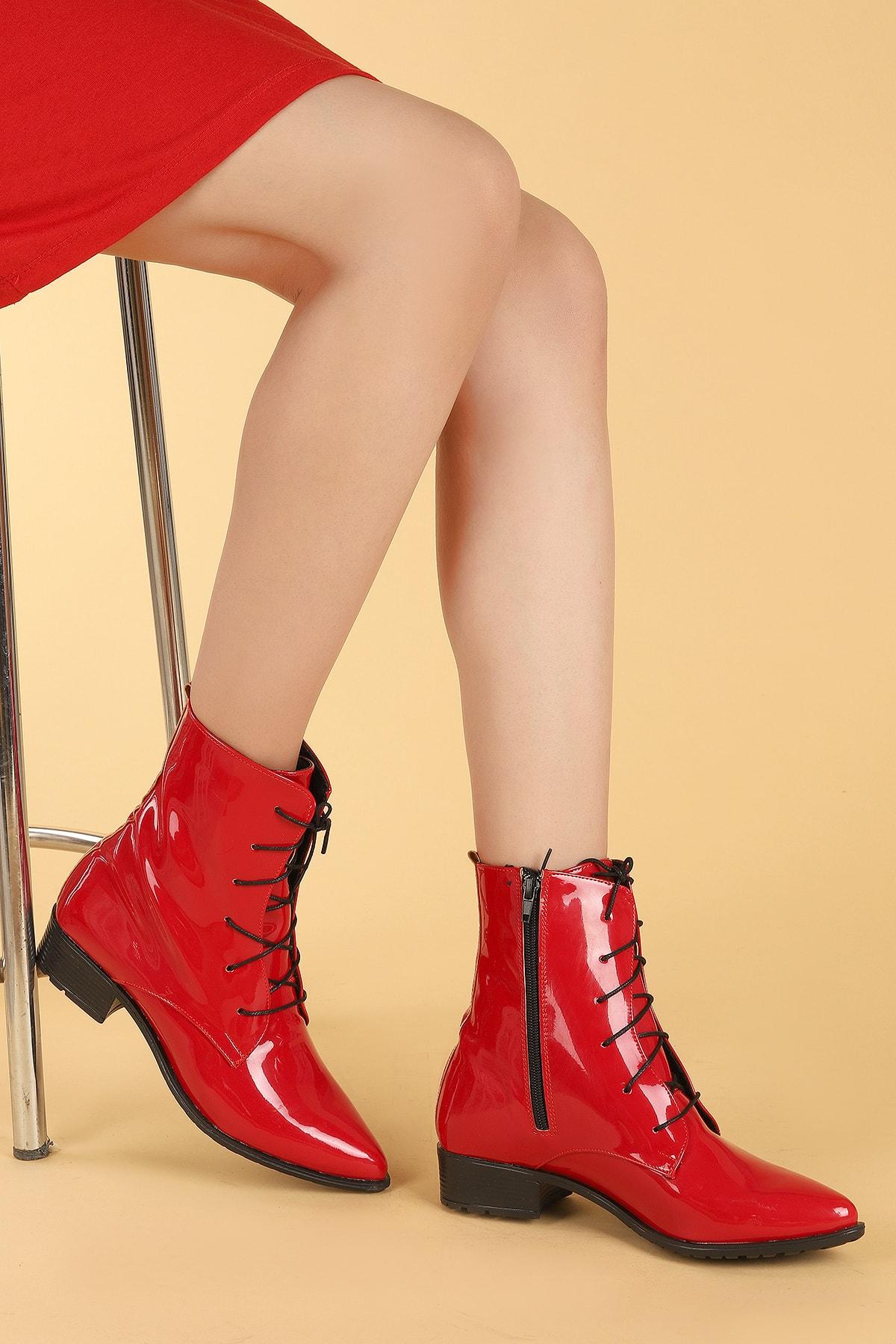 Ayakland Kadın Kırmızı Bot 2