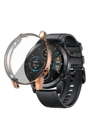 Revix Rose Gold Honor Watch Magic 2 46mm 360 Koruma Ultra Ince Silikon Kılıf